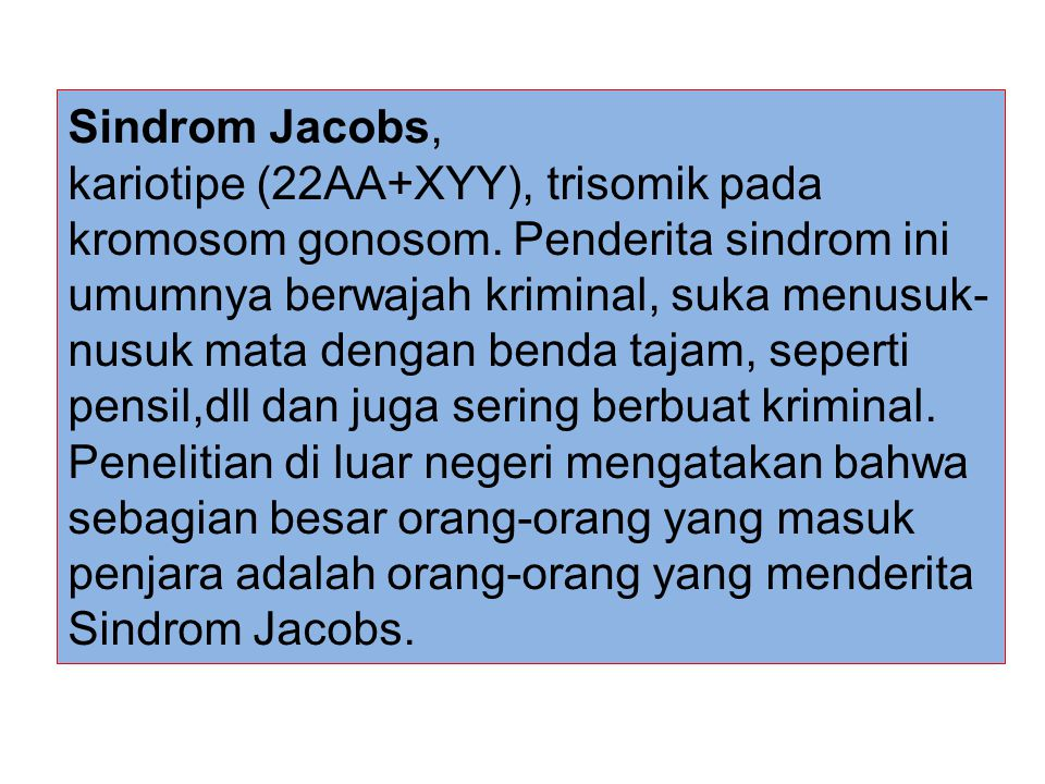 Sindrom Jacobs,