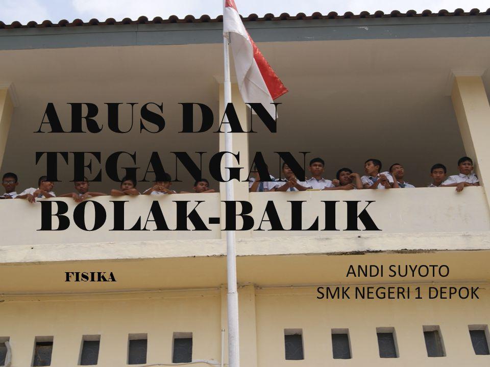 ARUS DAN TEGANGAN BOLAK-BALIK