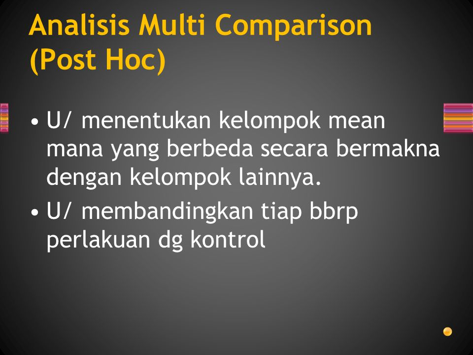 Analisis Multi Comparison (Post Hoc)
