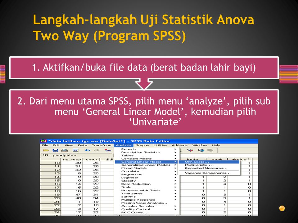 Langkah-langkah Uji Statistik Anova Two Way (Program SPSS)