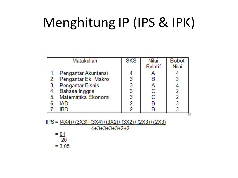 Menghitung IP (IPS & IPK)