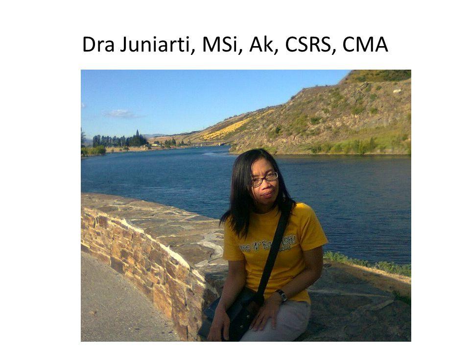 Dra Juniarti, MSi, Ak, CSRS, CMA