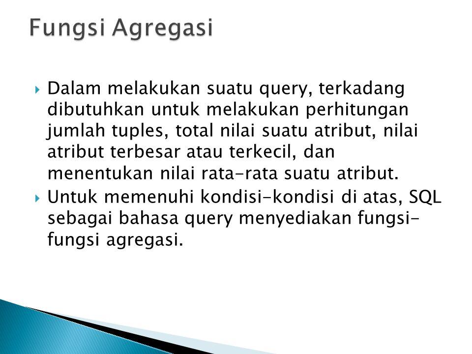 Fungsi Agregasi