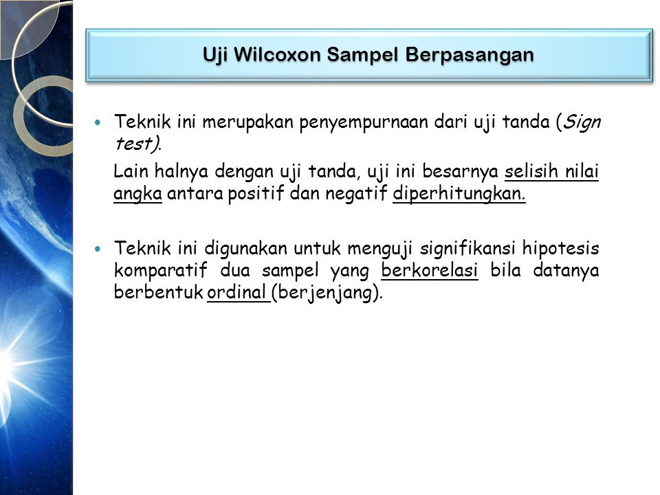 Uji Wilcoxon Sampel Berpasangan