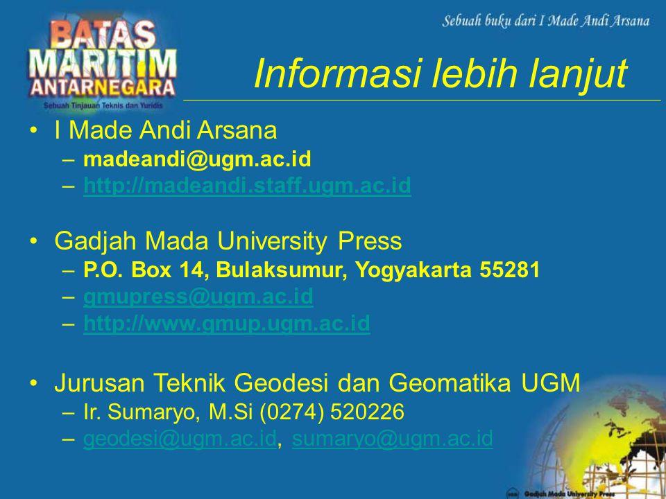 Informasi lebih lanjut