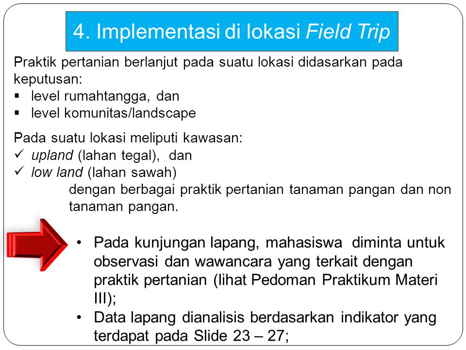 4. Implementasi di lokasi Field Trip