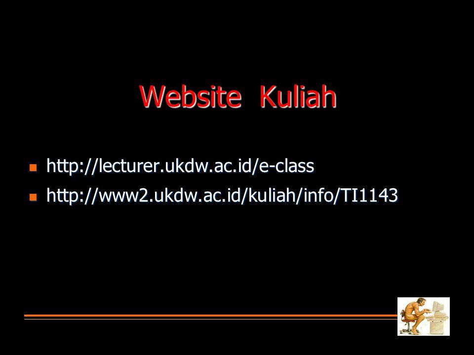 Website Kuliah http://lecturer.ukdw.ac.id/e-class