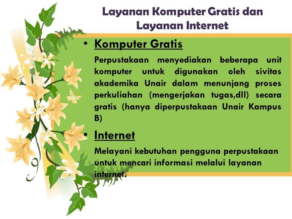 Layanan Komputer Gratis dan Layanan Internet