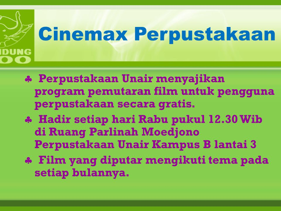 Cinemax Perpustakaan