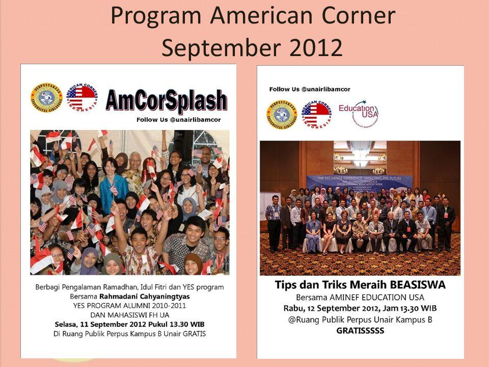 Program American Corner September 2012