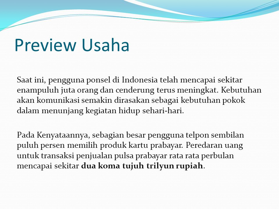 Preview Usaha