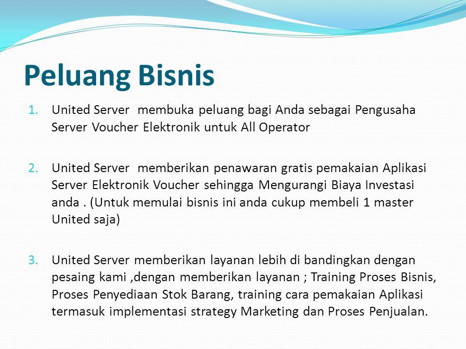 Peluang Bisnis United Server membuka peluang bagi Anda sebagai Pengusaha Server Voucher Elektronik untuk All Operator.