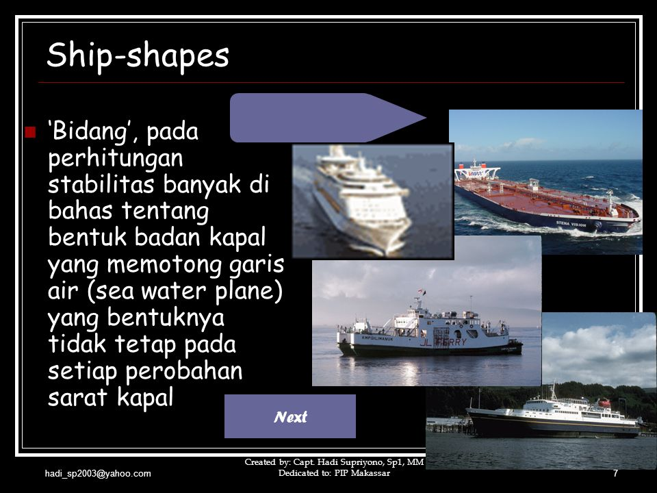 Ship-shapes