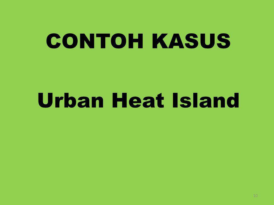 CONTOH KASUS Urban Heat Island