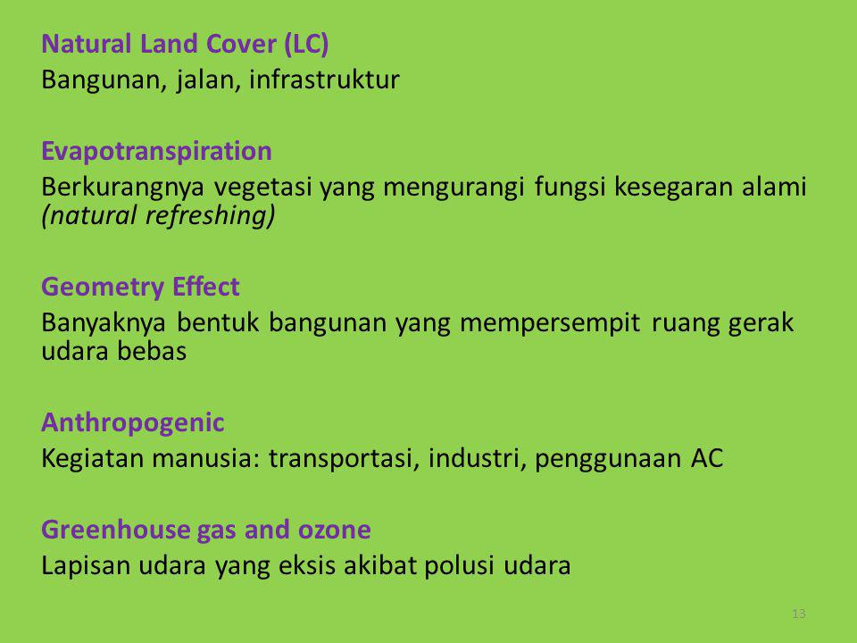 Natural Land Cover (LC)