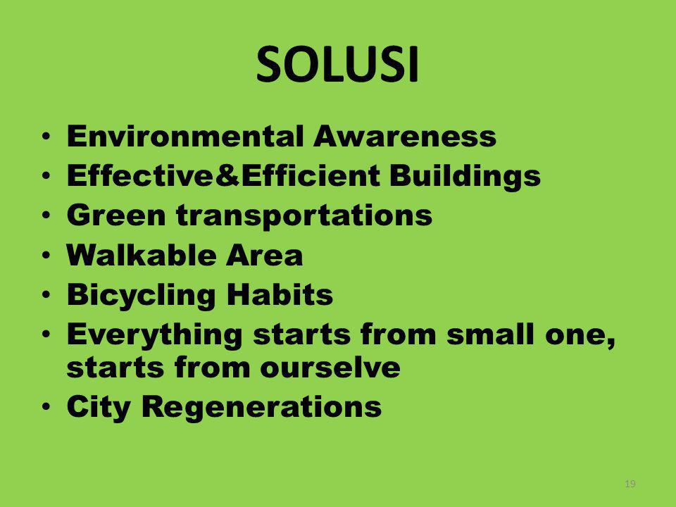 SOLUSI Environmental Awareness Effective&Efficient Buildings
