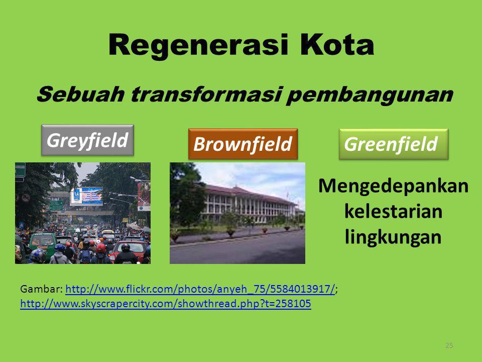 Sebuah transformasi pembangunan Mengedepankan kelestarian lingkungan