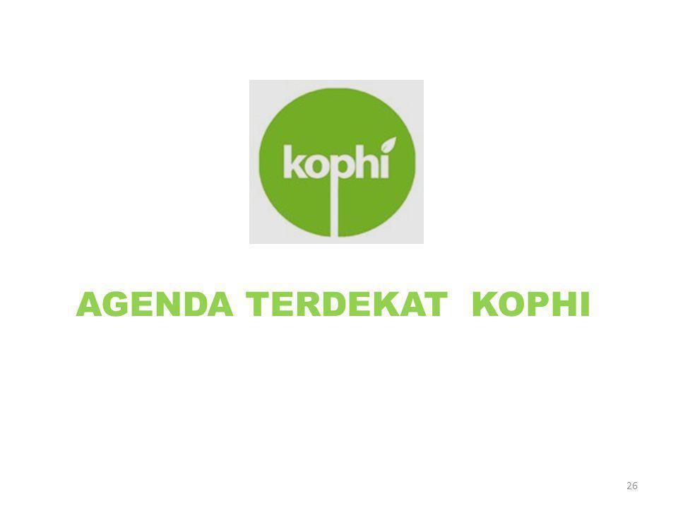 AGENDA TERDEKAT KOPHI