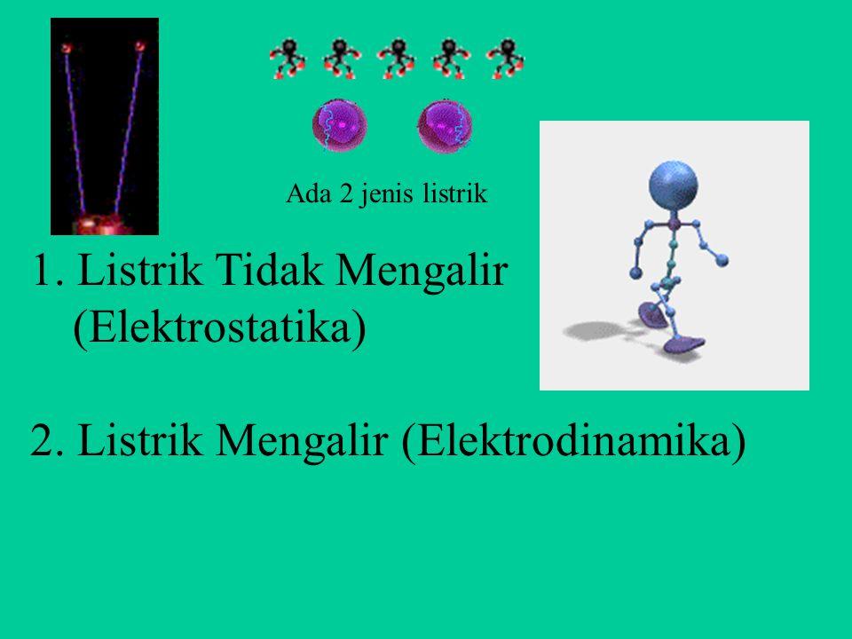 1. Listrik Tidak Mengalir (Elektrostatika)