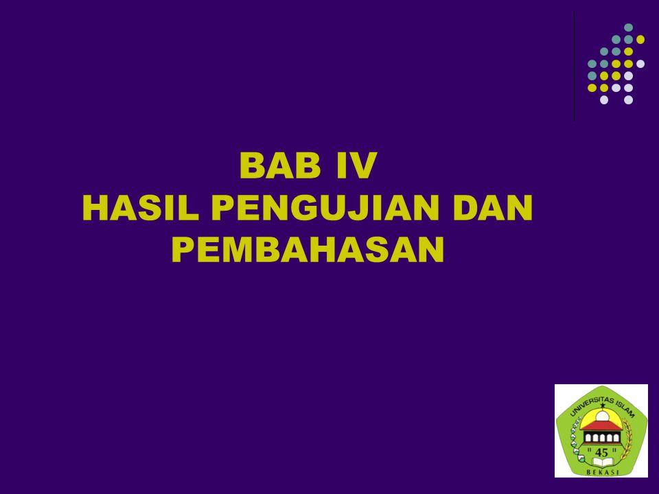 BAB IV HASIL PENGUJIAN DAN PEMBAHASAN