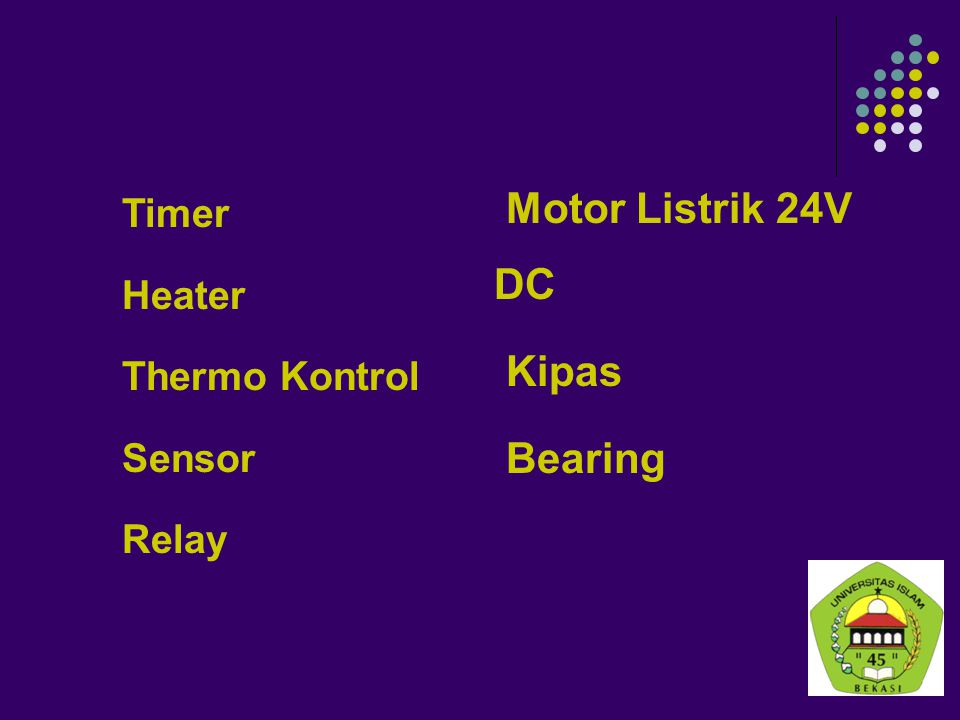 Motor Listrik 24V DC Kipas Bearing Timer Heater Thermo Kontrol Sensor