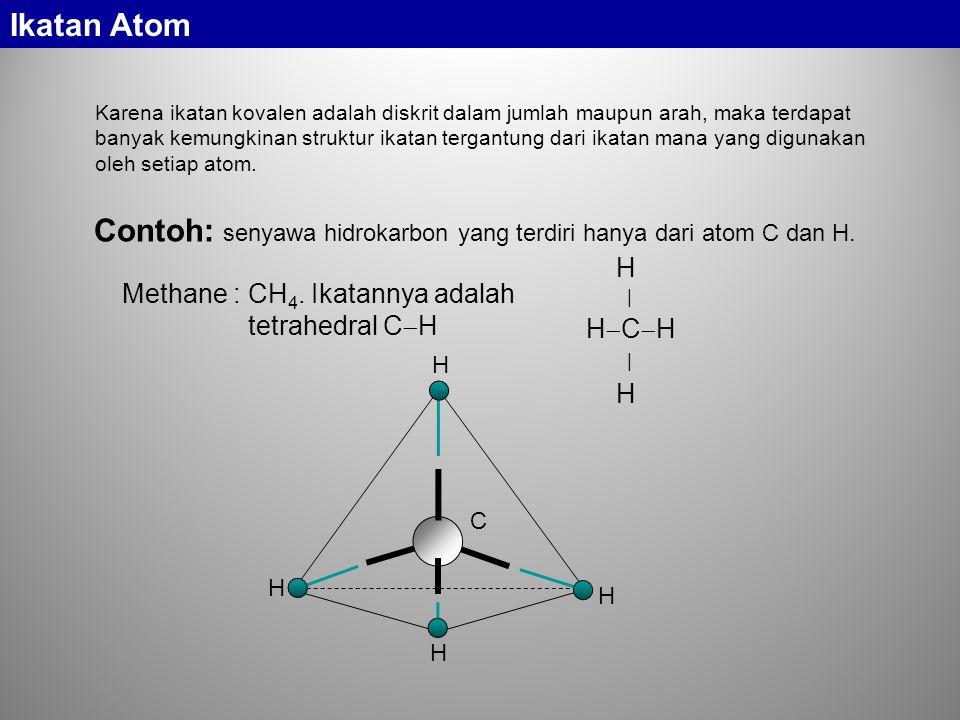 Contoh: senyawa hidrokarbon yang terdiri hanya dari atom C dan H.