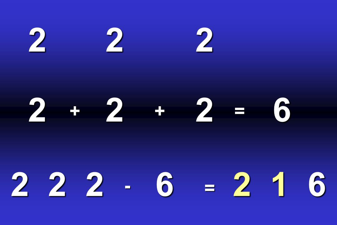 2 + 2 = 6 - 2 6 = 2 1 6