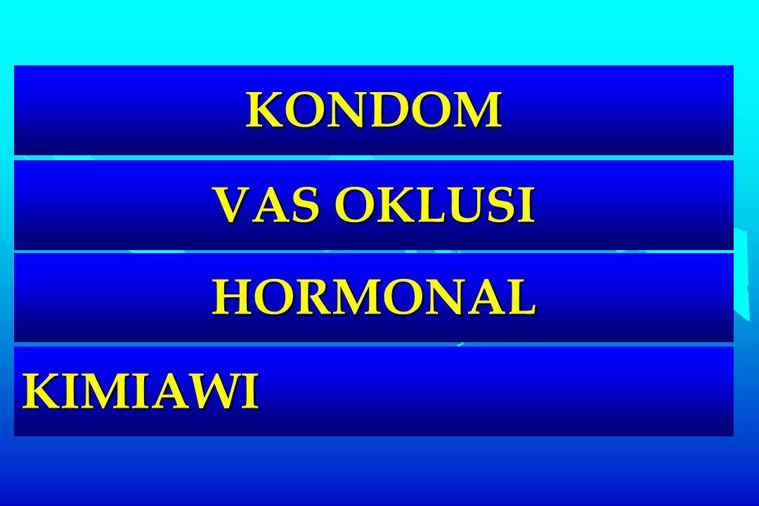KONDOM VAS OKLUSI HORMONAL KIMIAWI