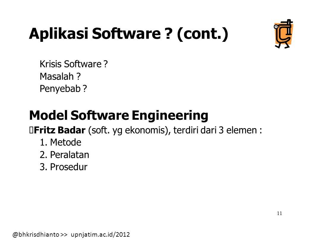 Aplikasi Software (cont.)