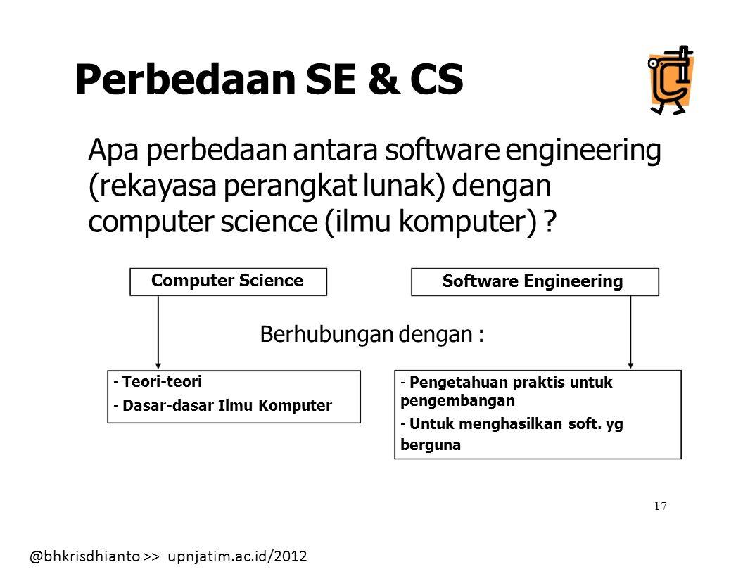 Perbedaan SE & CS Berhubungan dengan :