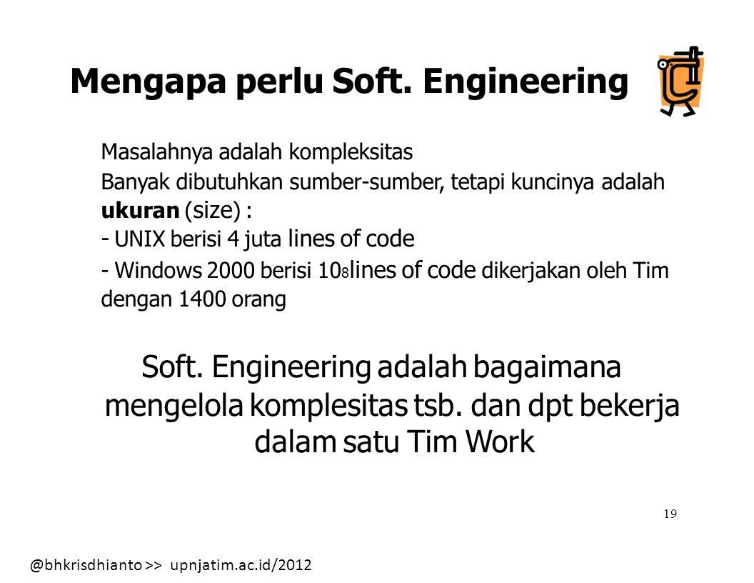 Mengapa perlu Soft. Engineering