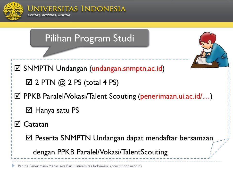 Pilihan Program Studi SNMPTN Undangan (undangan.snmptn.ac.id)