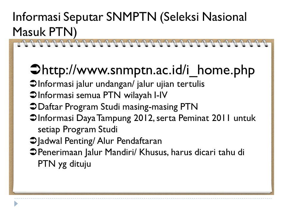 Informasi Seputar SNMPTN (Seleksi Nasional Masuk PTN)