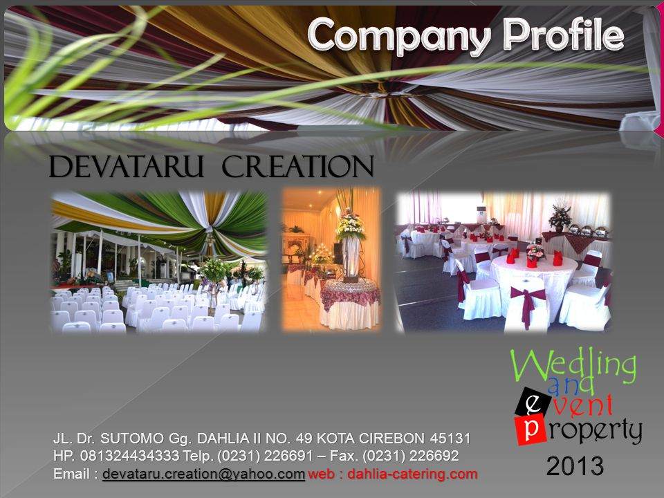 Company Profile DEVATARU CREATION 2013