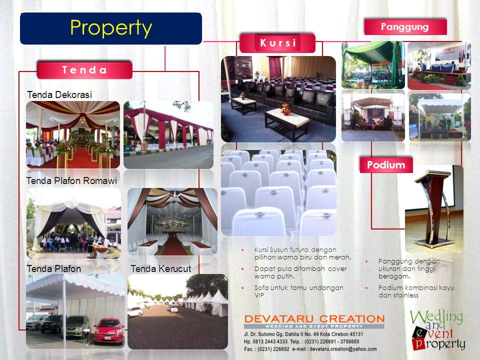 Property K u r s i T e n d a Podium Panggung Tenda Dekorasi