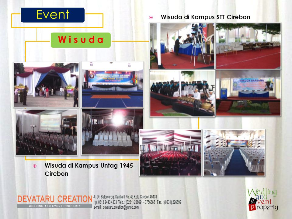 Event W i s u d a Wisuda di Kampus STT Cirebon