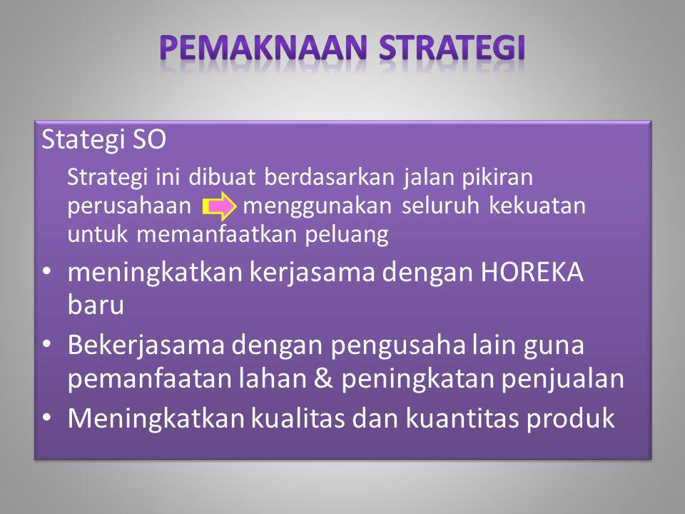 Pemaknaan Strategi Stategi SO