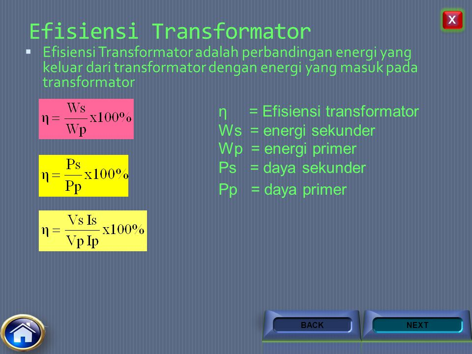 Efisiensi Transformator