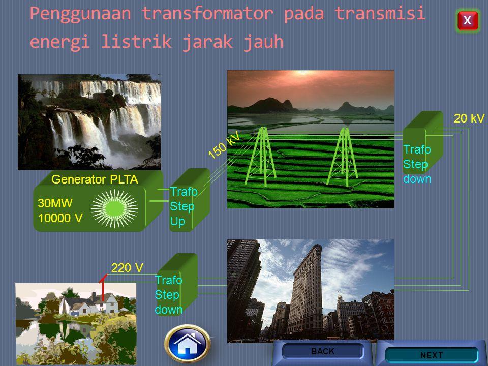 Penggunaan transformator pada transmisi energi listrik jarak jauh