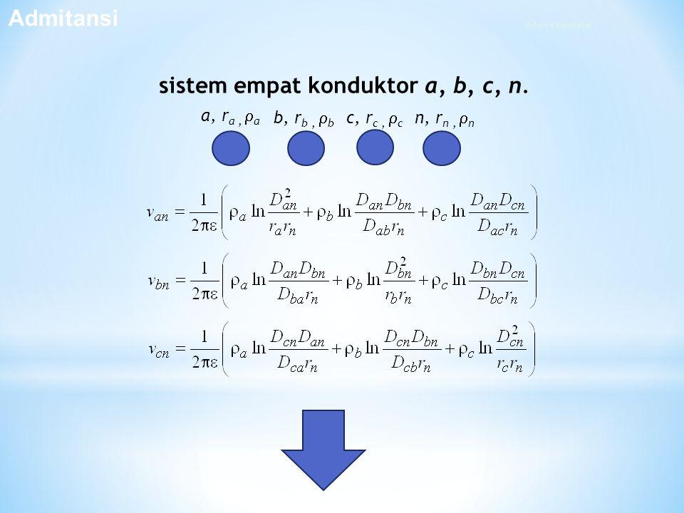 sistem empat konduktor a, b, c, n.