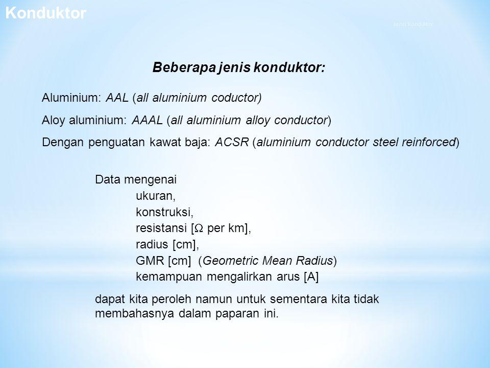 Konduktor Beberapa jenis konduktor: