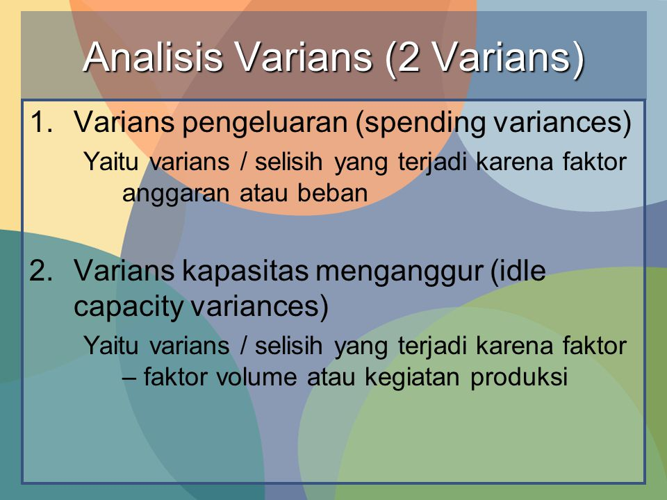 Analisis Varians (2 Varians)