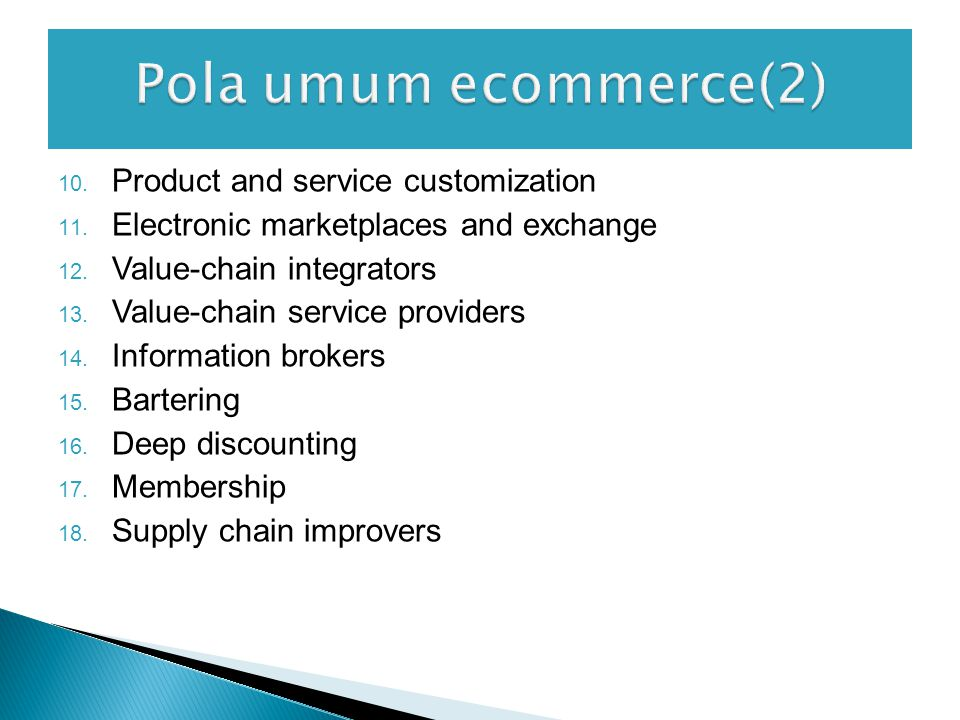 Pola umum ecommerce(2) Product and service customization
