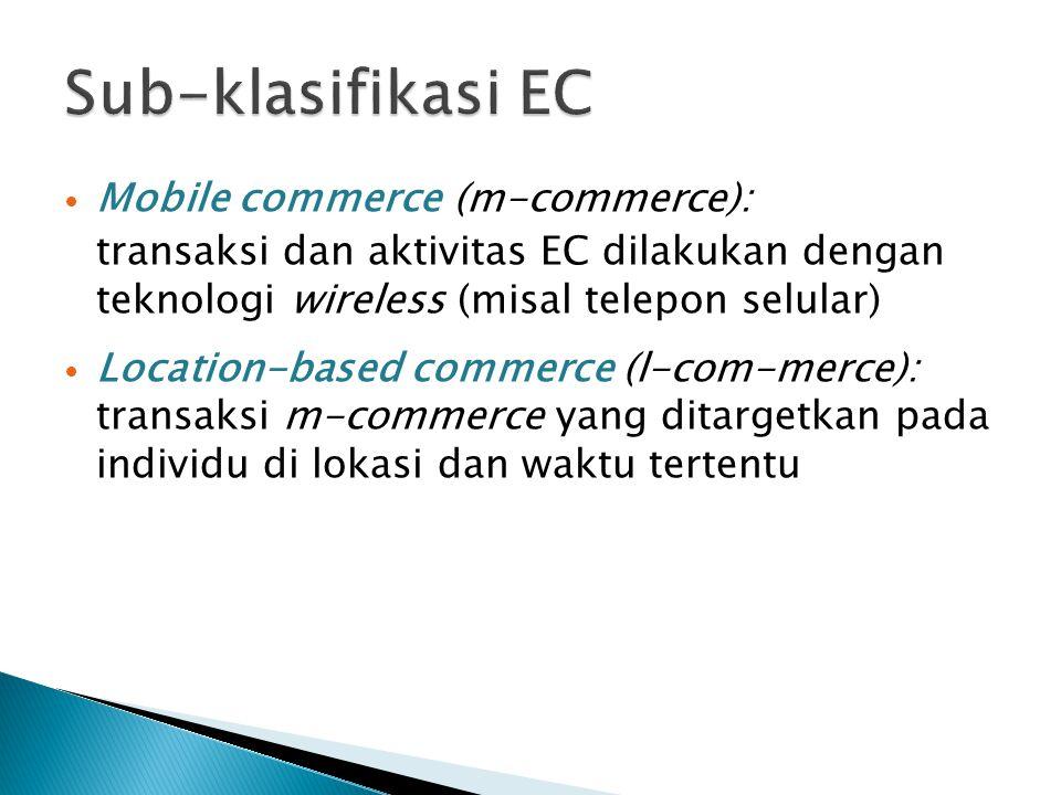 Sub-klasifikasi EC Mobile commerce (m-commerce):