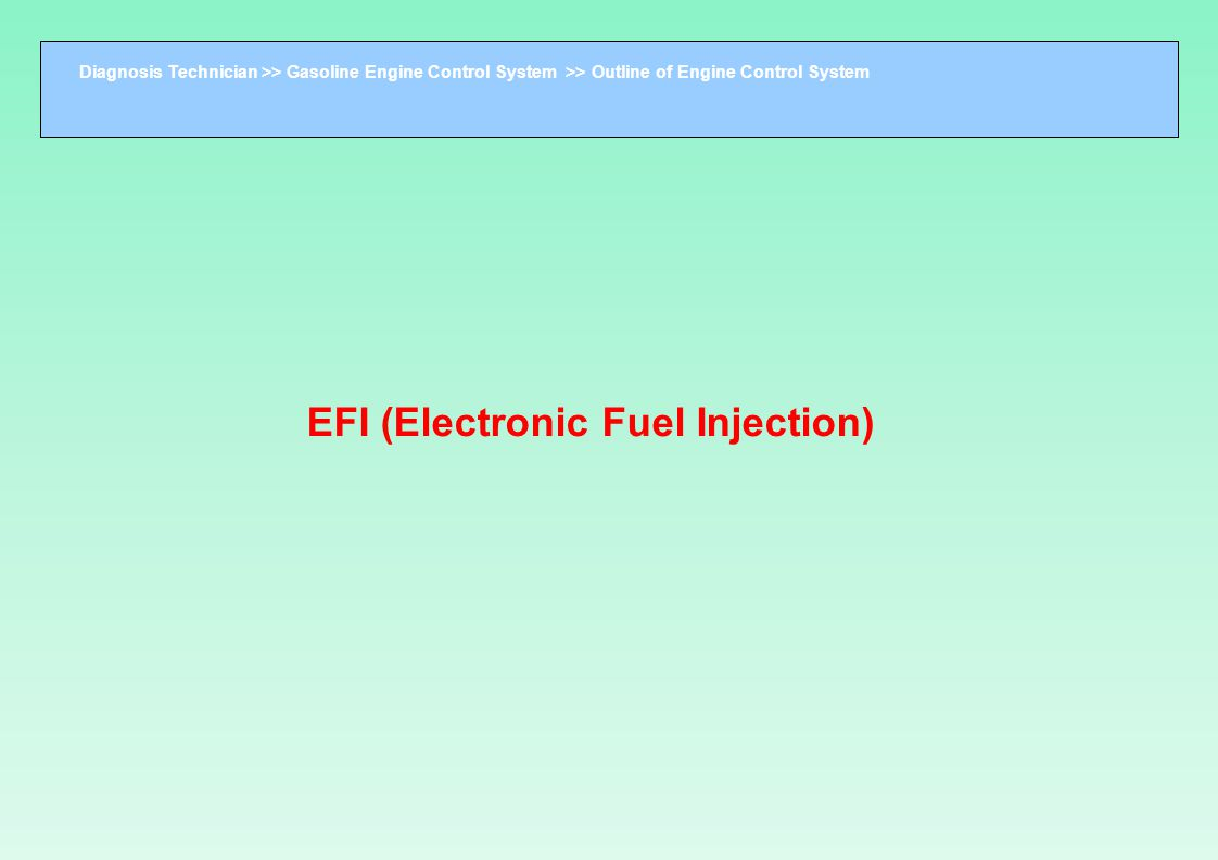 EFI (Electronic Fuel Injection)‏