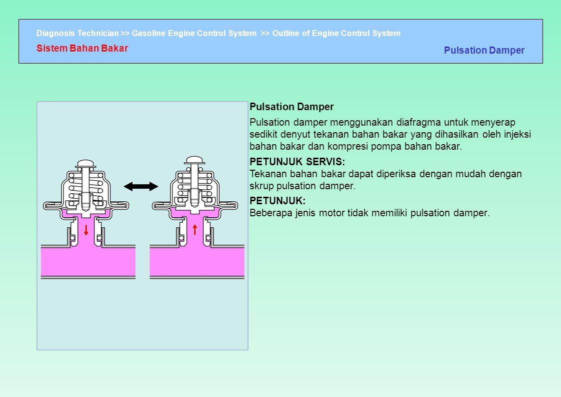 PETUNJUK: Beberapa jenis motor tidak memiliki pulsation damper.