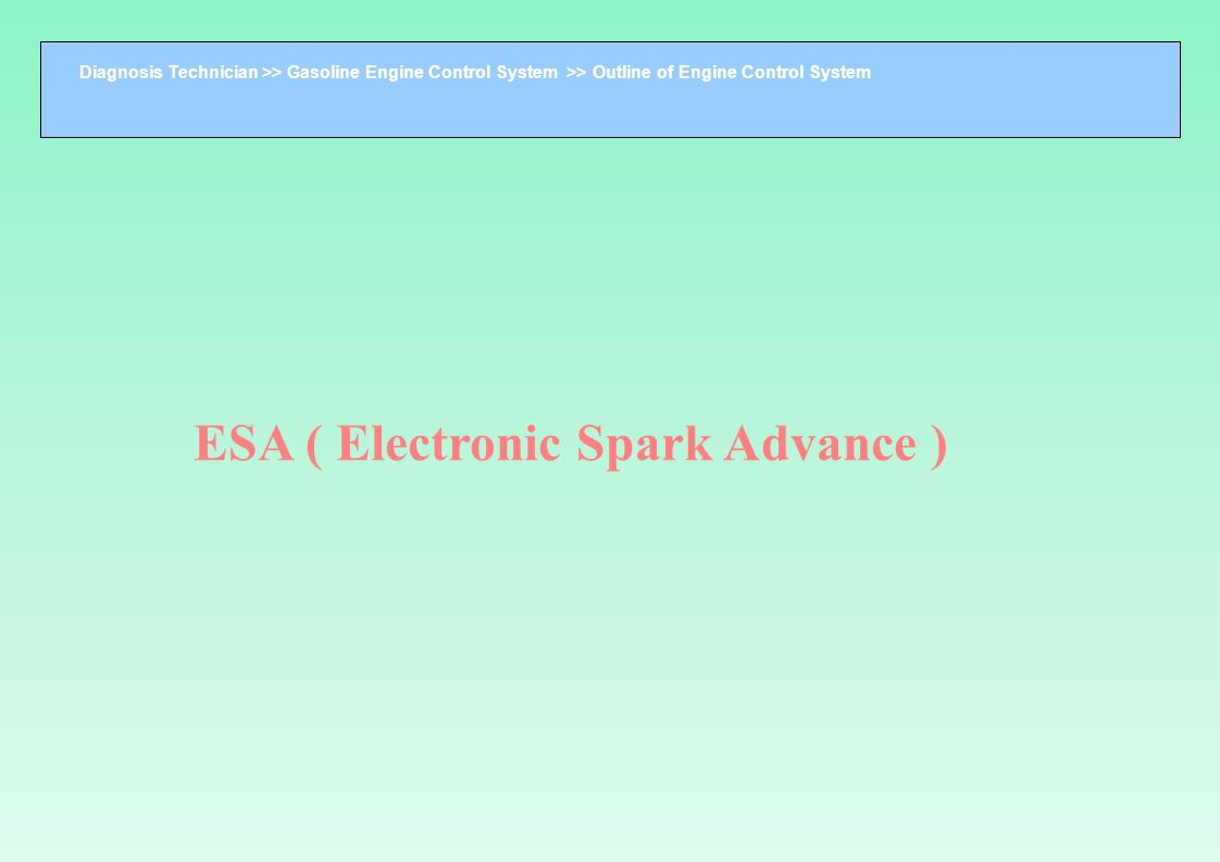 ESA ( Electronic Spark Advance )