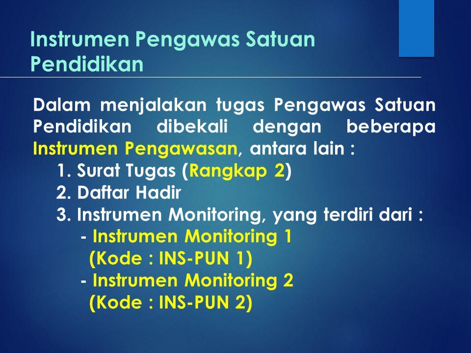 Instrumen Pengawas Satuan Pendidikan