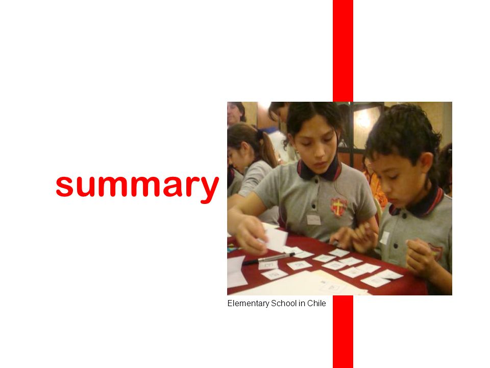summary Elementary School in Chile