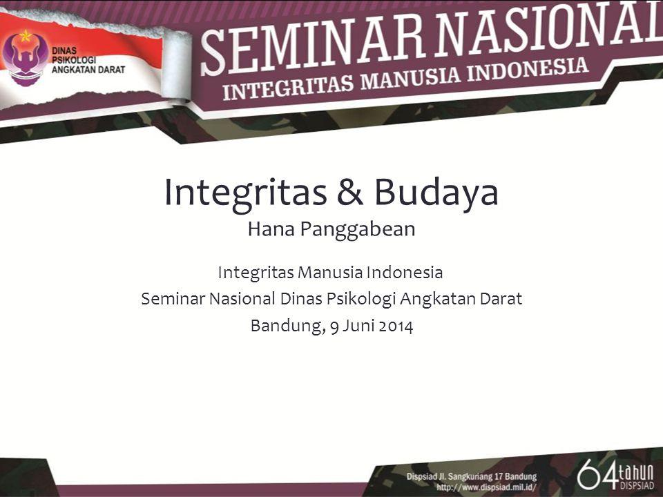 Integritas & Budaya Hana Panggabean